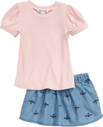 Splendid Bee Print Skirt Set