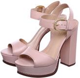 Schutz Nude Platform Sandals