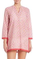 Roberta Roller Rabbit Border Barika Cotton Kurta Coverup
