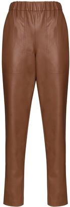 Tibi Straight-Leg Pull-On Trousers