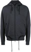 Y-3 waist drawstring zipped hoody - men - Cotton - XS