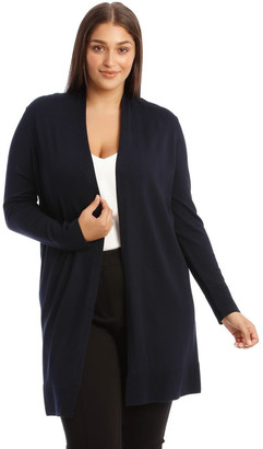 Basque Midnight Blue Longline Cardigan