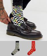 Asos Design DESIGN 2 pack palm print ankle sock save