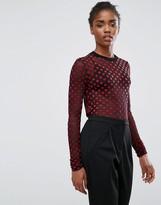 Minimum Sheer Spot Long Sleeve Top