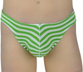 Heymei Men's Sexy Perspective Stripes Briefs Elastic Underwear T-back BP1