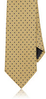 Ermenegildo Zegna Men's Geometric Silk Necktie-YELLOW