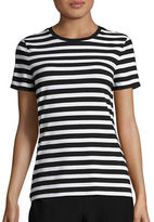 Lord & Taylor Striped Crewneck Tee