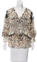 Roberto Cavalli Silk Leopard Print Tunic