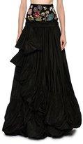 Alexander McQueen Encrusted Jewel Waist Taffeta Ball Skirt