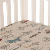Glenna Jean Fly-By Airplane Fitted Crib Sheet