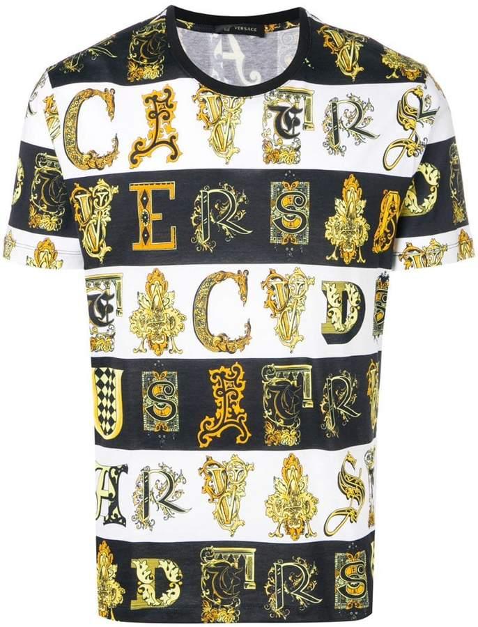 Versace striped printed T-shirt