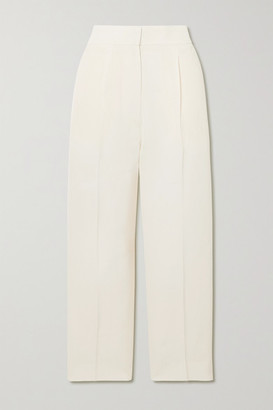 Petar Petrov Hyatt Grain De Poudre Tapered Pants - Ivory