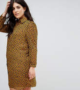 Fashion Union Plus Shirt Dress In Leopard Print