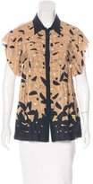 Aquilano Rimondi Aquilano.Rimondi Silk Face Print Top w/ Tags