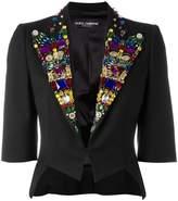 Dolce & Gabbana rhinestone lapel blazer