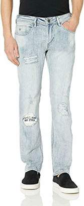 Buffalo David Bitton Men's Max-X Skinny Jean in ressler Fabric Crinkled and Sanded