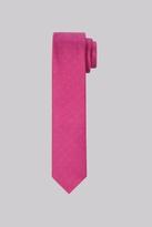 Moss Bros Premium Fuchsia Spot Silk Skinny Tie