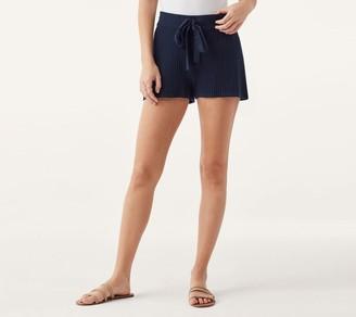 Splendid Ribbed Knit Shorts - Bonfire