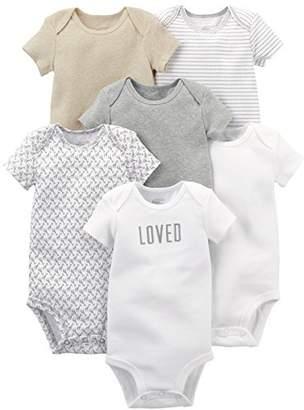 Carter's Simple Joys by Baby 6-Pack Neutral Short-Sleeve Bodysuit