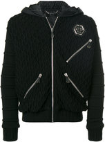 Philipp Plein hooded bomber jacket