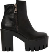 Strategia 100mm Zip-Up Leather Ankle Boots