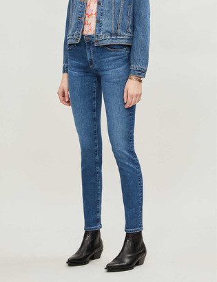 AG Jeans Prima straight high-rise jeans