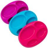 Boon Platter Edgeless Stayput Divider Bowl - Blue/Green/Orange - 3 ct