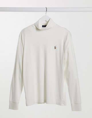 Polo Ralph Lauren roll neck in cream with small logo