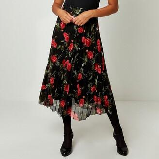 Joe Browns Floral Pleated Midi Skirt