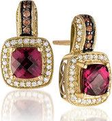 Le Vian Chocolatier Le Vian 14ct Honey Gold diamond & rhodolite earrings