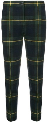 Moschino checked skinny trousers