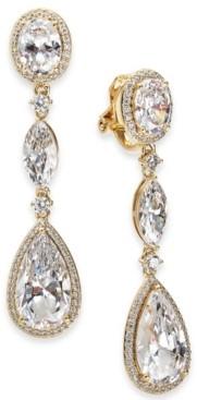 Eliot Danori Cubic Zirconia Teardrop Clip-On Drop Earrings, Created for Macy's