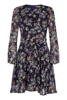 Yumi Retro Floral Print Dress