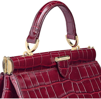 Aspinal of London Florence small embossed leather handbag