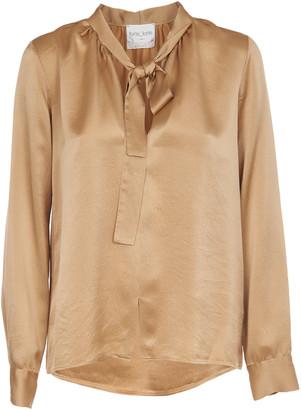 Forte Forte Camel Silk Satin Shirt
