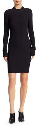 Helmut Lang Open-Back Knit Bodycon Dress