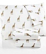 Martha Stewart WHIM Collection 100% Cotton Sheet Set Sparkley Giraffes Cal King Size