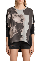 AllSaints Reality Wave T-Shirt, Multi/Black