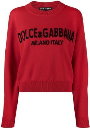 Dolce & Gabbana Cashmere Logo-Intarsia Jumper