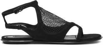 Alexander Wang Gaia Mesh And Suede Sandals