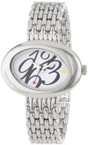Vivienne Westwood Women's VV014WHSL Ellipse White Silver-Tone Watch