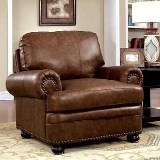 "Hokku Designs Alamosa 44"" W Faux Leather Club Chair"