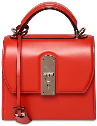 Salvatore Ferragamo Small Boxyz Leather Top Handle Bag