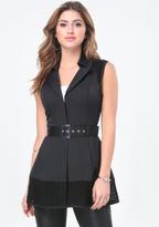 Bebe Bianca Eyelet Trench Vest