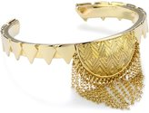 House Of Harlow Plated Clear Crescent Triangle Cuff Bracelet