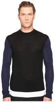 McQ Color Block Crew Neck Sweater