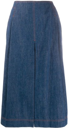 Chloé A-line denim skirt