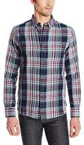French Connection Men's Gasser Grindle Plaid Long Sleeve Button Down Shirt
