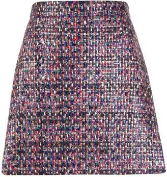 Marco De Vincenzo Boucle Mini Skirt