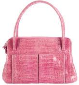 Nancy Gonzalez Crocodile Double Zip Handle Bag